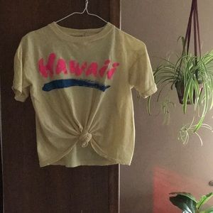 Vintage Tops - Vintage Hawaii crop tee